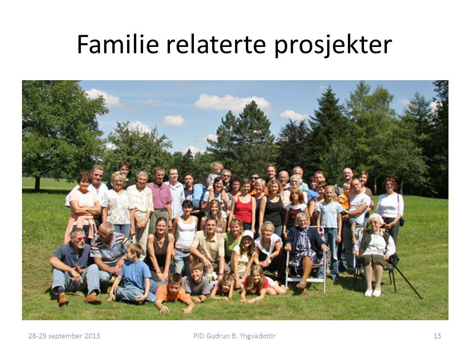 Familie relaterte prosjekter
