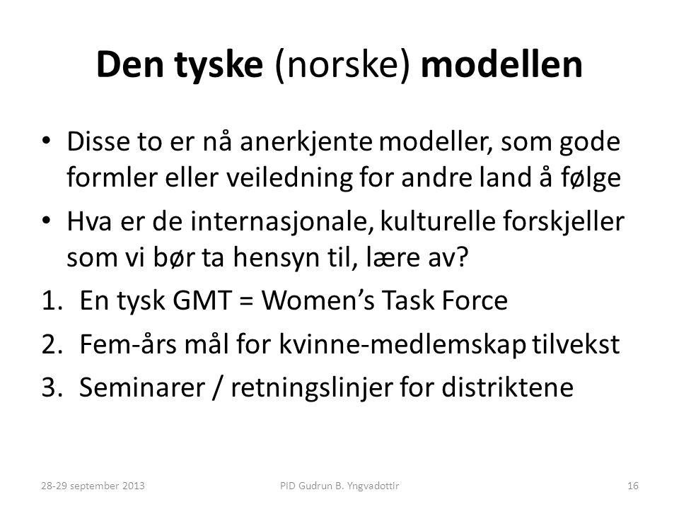 Den tyske (norske) modellen
