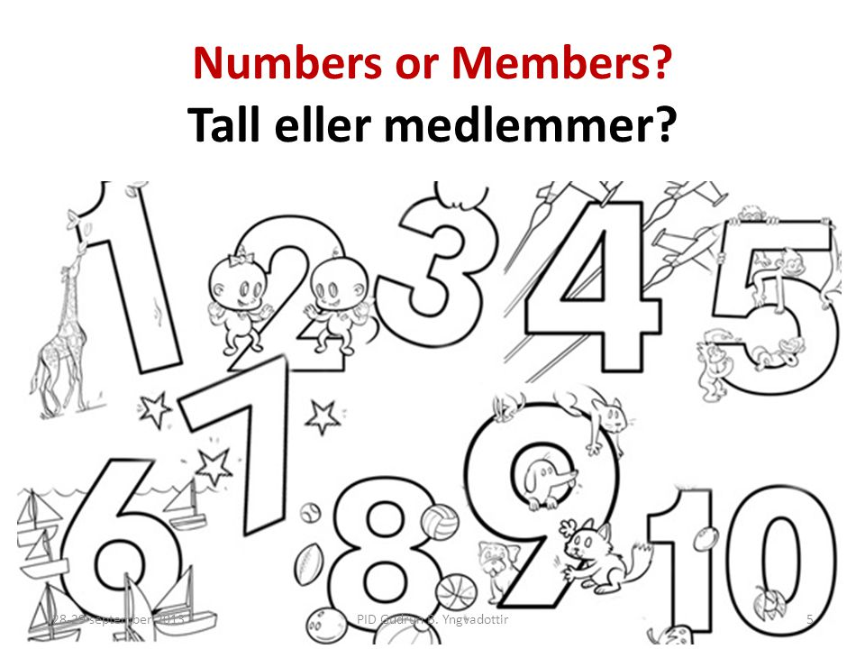 Numbers or Members Tall eller medlemmer
