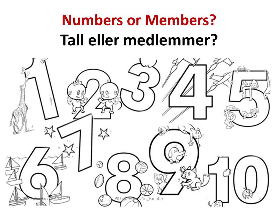 Numbers or Members Tall eller medlemmer