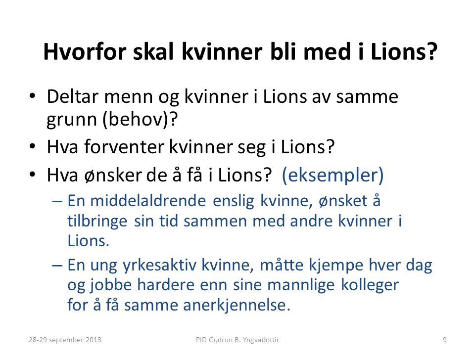 Hvorfor skal kvinner bli med i Lions
