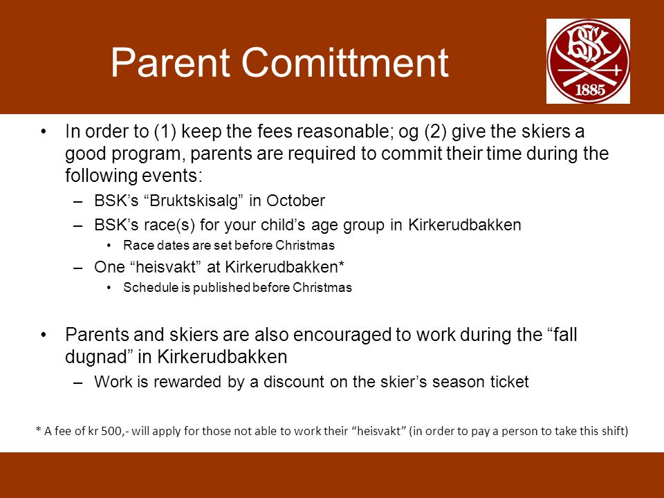 Parent Comittment