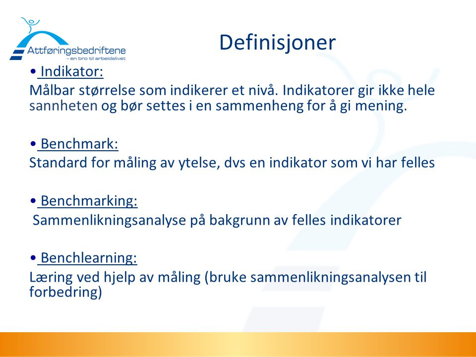 Definisjoner Indikator: