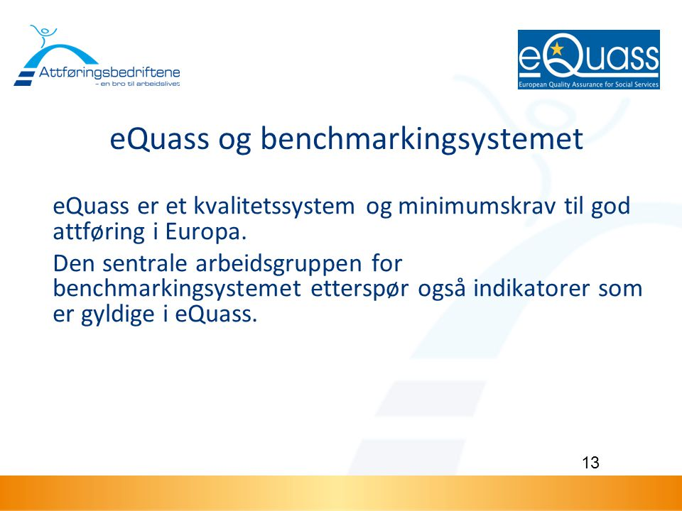 eQuass og benchmarkingsystemet