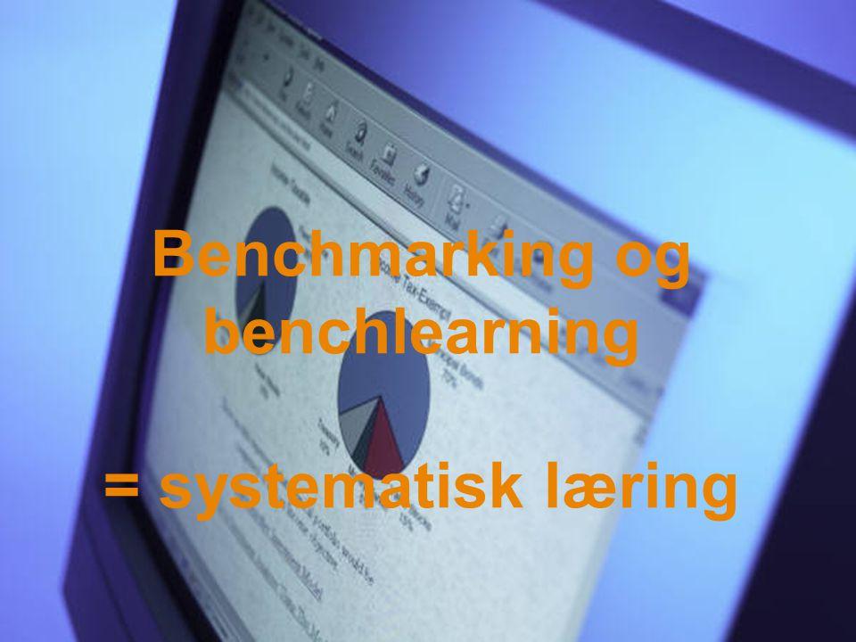 Benchmarking og benchlearning = systematisk læring