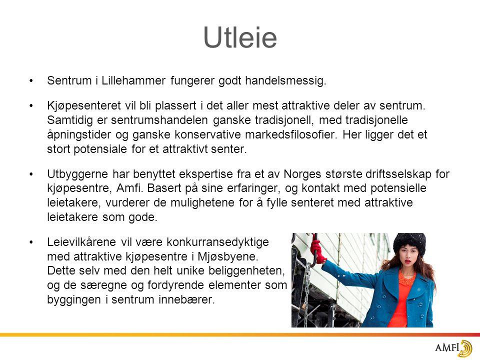 Utleie Sentrum i Lillehammer fungerer godt handelsmessig.