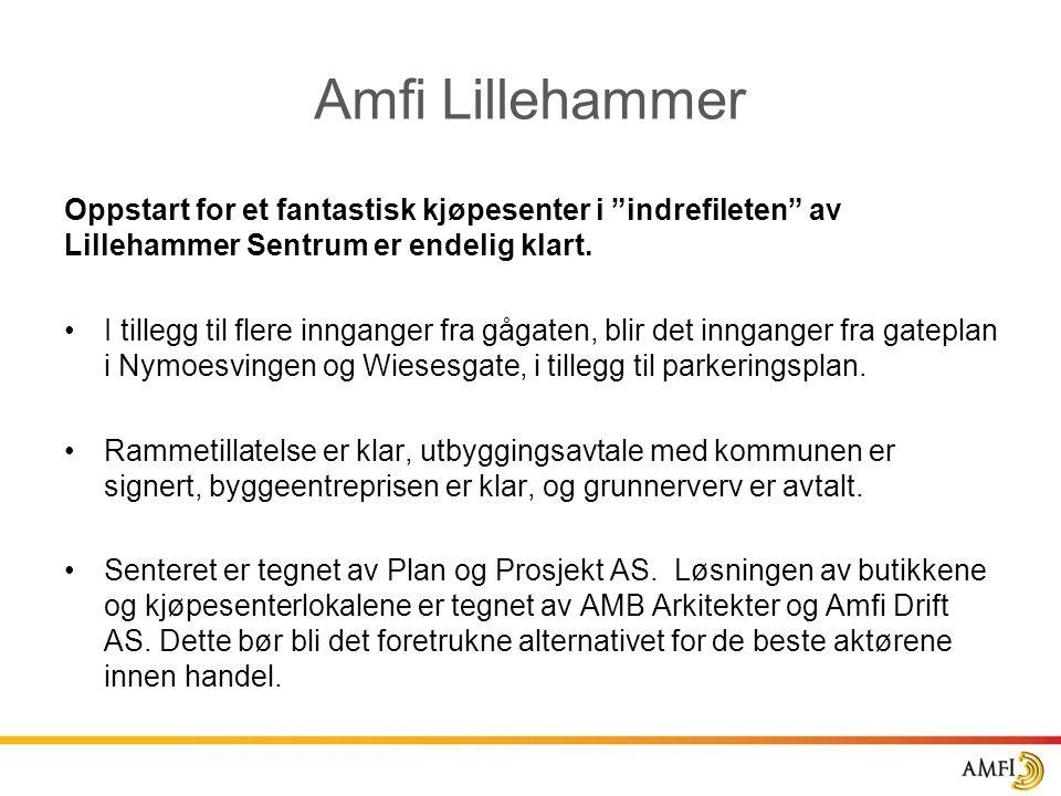 Amfi Lillehammer Oppstart for et fantastisk kjøpesenter i indrefileten av Lillehammer Sentrum er endelig klart.