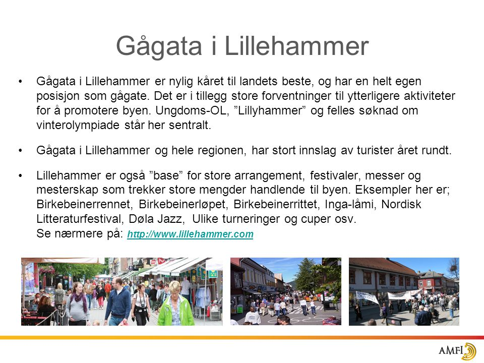 Gågata i Lillehammer