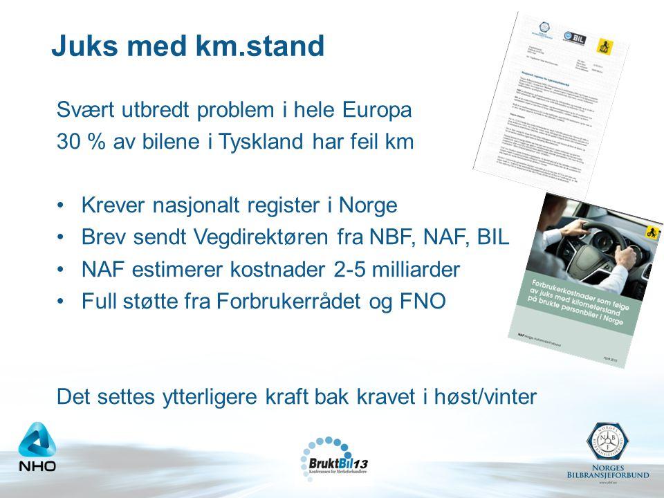 Juks med km.stand Svært utbredt problem i hele Europa