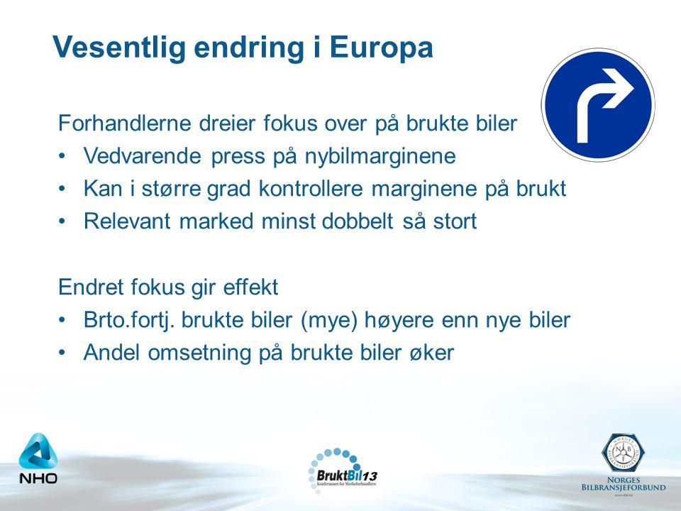 Vesentlig endring i Europa