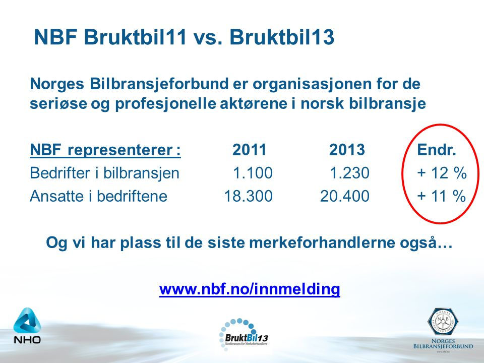 NBF Bruktbil11 vs. Bruktbil13
