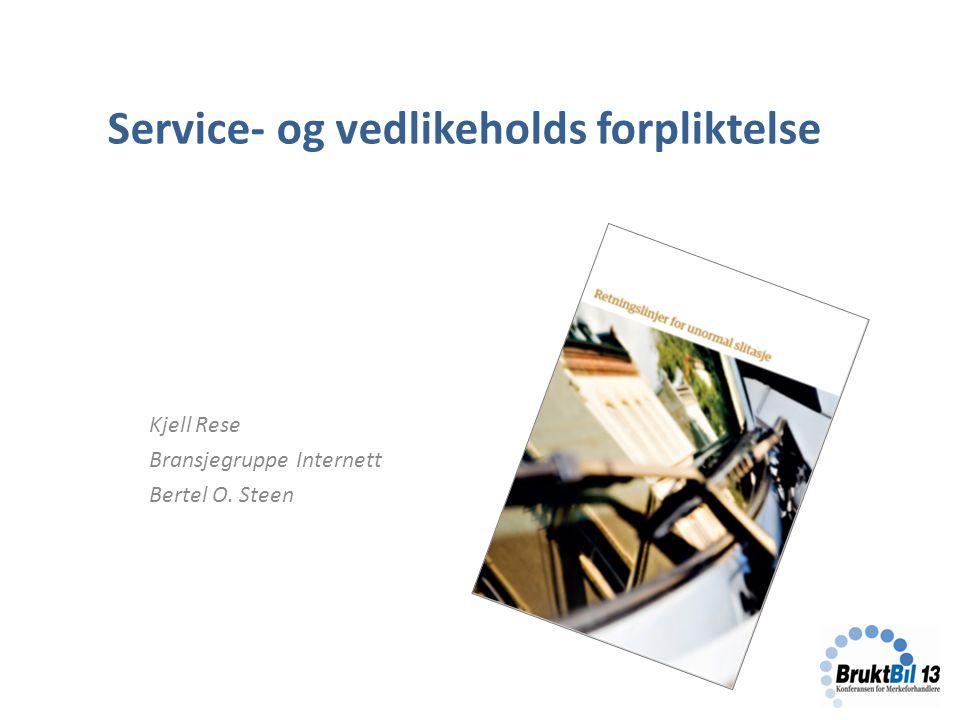 Service- og vedlikeholds forpliktelse