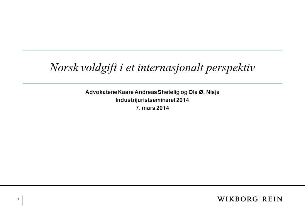 Norsk voldgift i et internasjonalt perspektiv