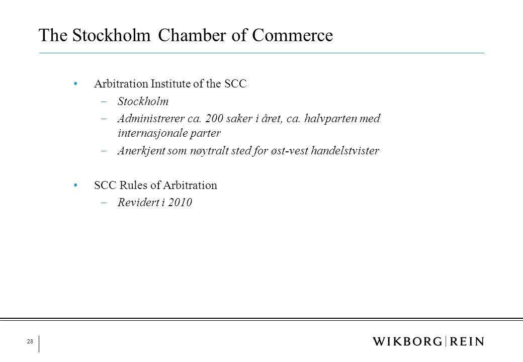 The Stockholm Chamber of Commerce