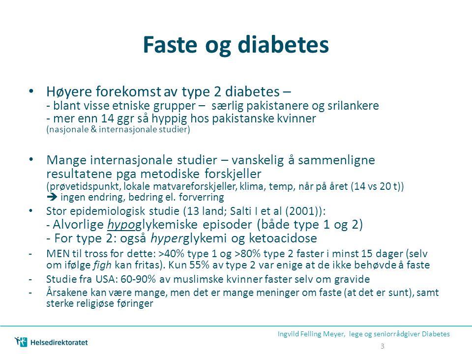 Faste og diabetes