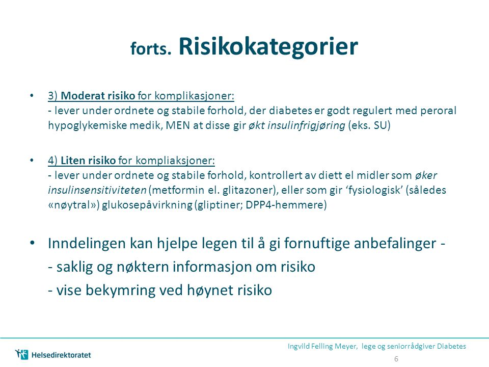 forts. Risikokategorier