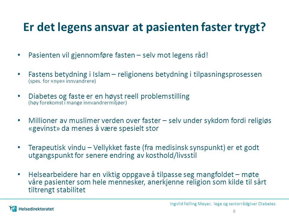 Er det legens ansvar at pasienten faster trygt