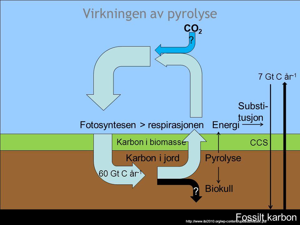 Virkningen av pyrolyse