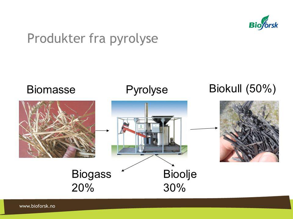 Produkter fra pyrolyse