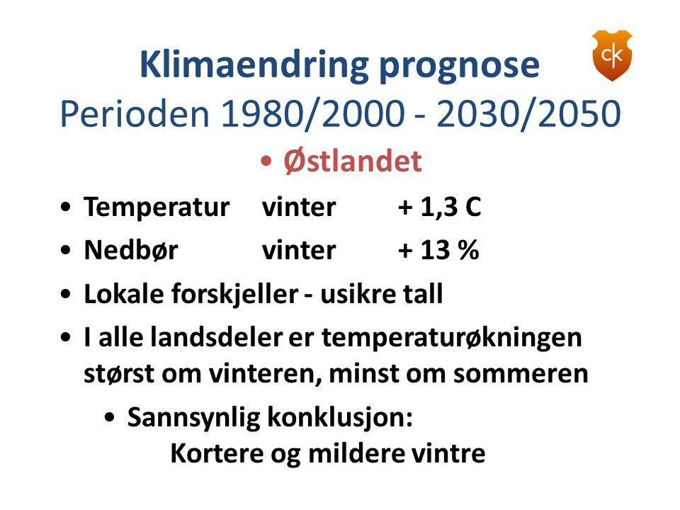 Sannsynlig konklusjon: Kortere og mildere vintre