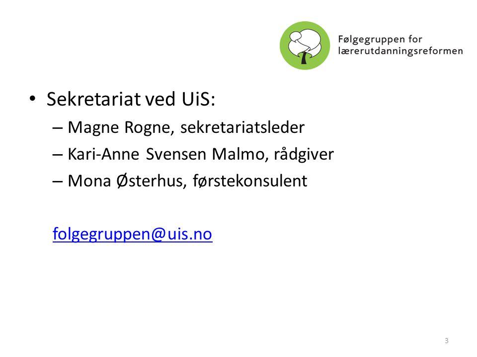 Sekretariat ved UiS: Magne Rogne, sekretariatsleder