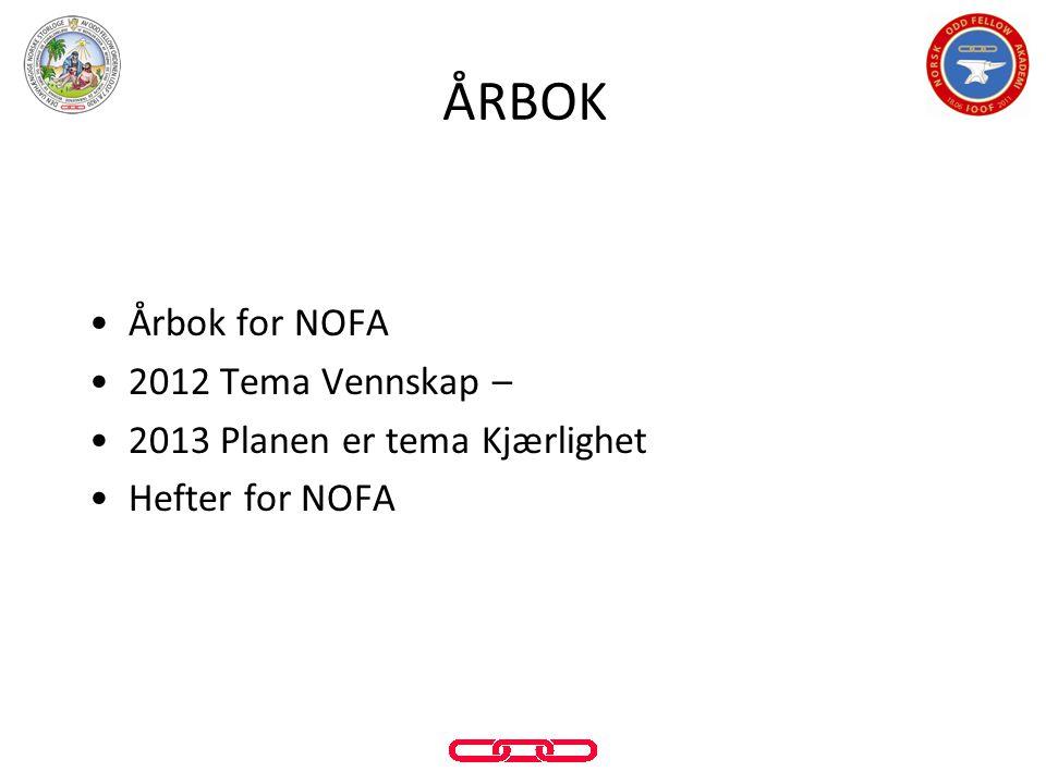 ÅRBOK Årbok for NOFA 2012 Tema Vennskap –