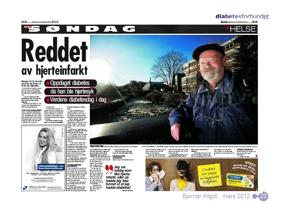 Bjørnar Allgot, mars 2012