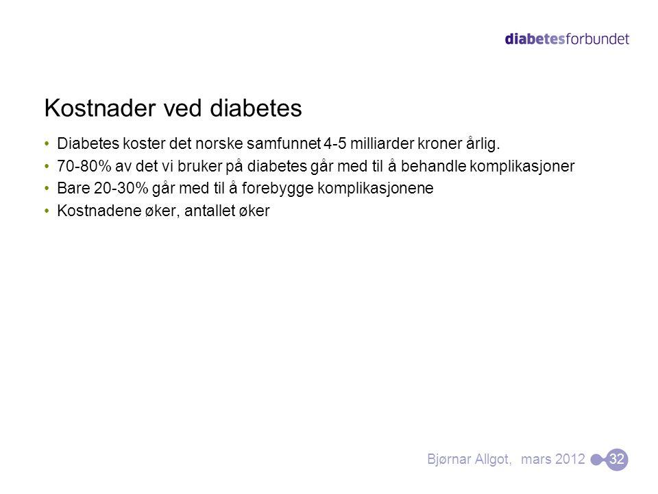 Kostnader ved diabetes