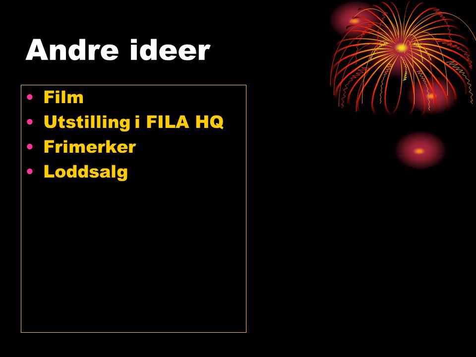 Andre ideer Film Utstilling i FILA HQ Frimerker Loddsalg
