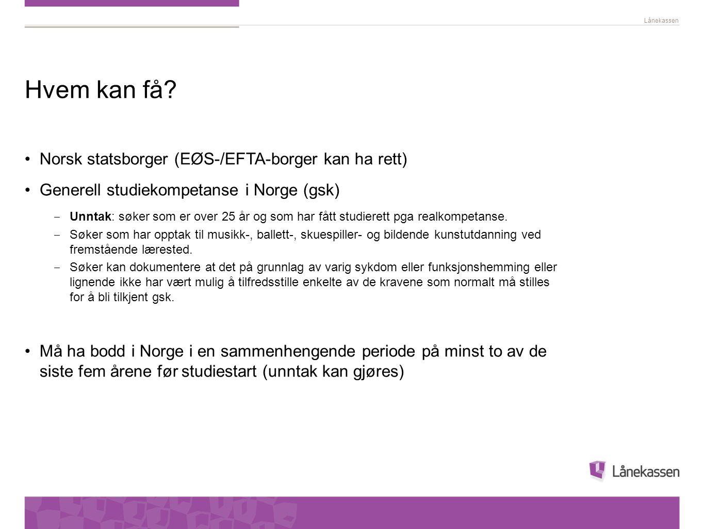 Hvem kan få Norsk statsborger (EØS-/EFTA-borger kan ha rett)