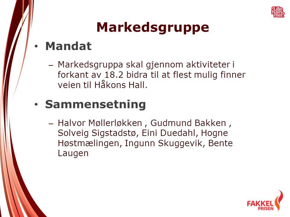 Markedsgruppe Mandat Sammensetning