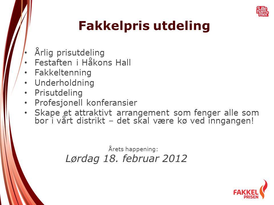 Fakkelpris utdeling Lørdag 18. februar 2012 Årlig prisutdeling