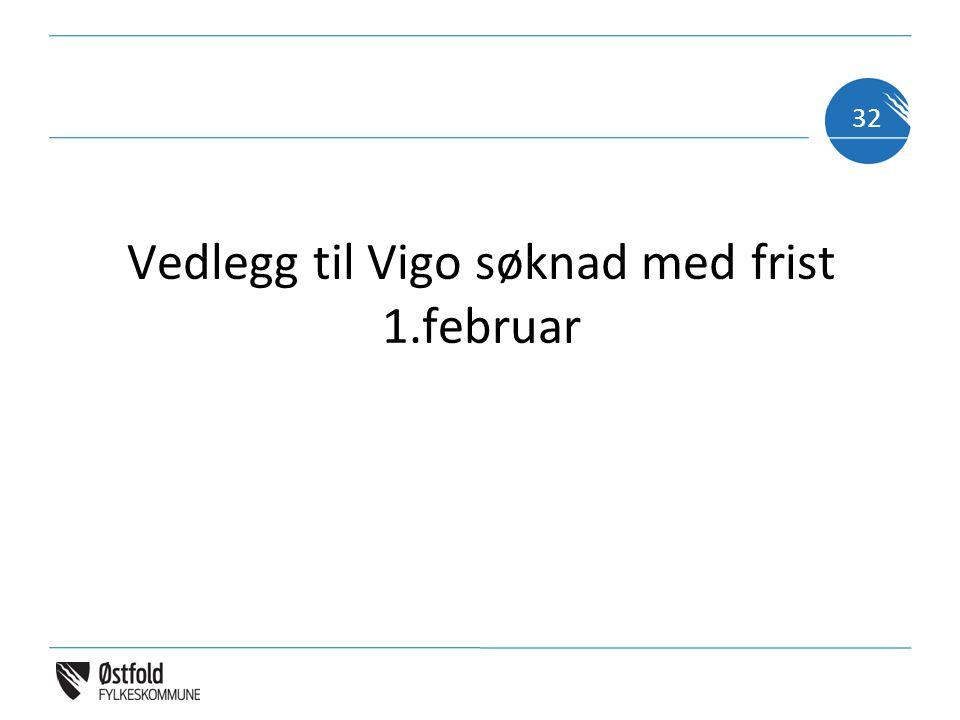Vedlegg til Vigo søknad med frist 1.februar