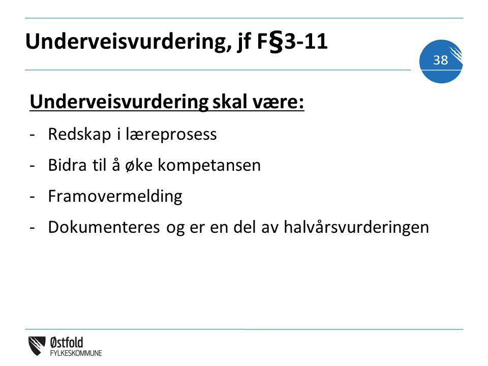 Underveisvurdering, jf F§3-11