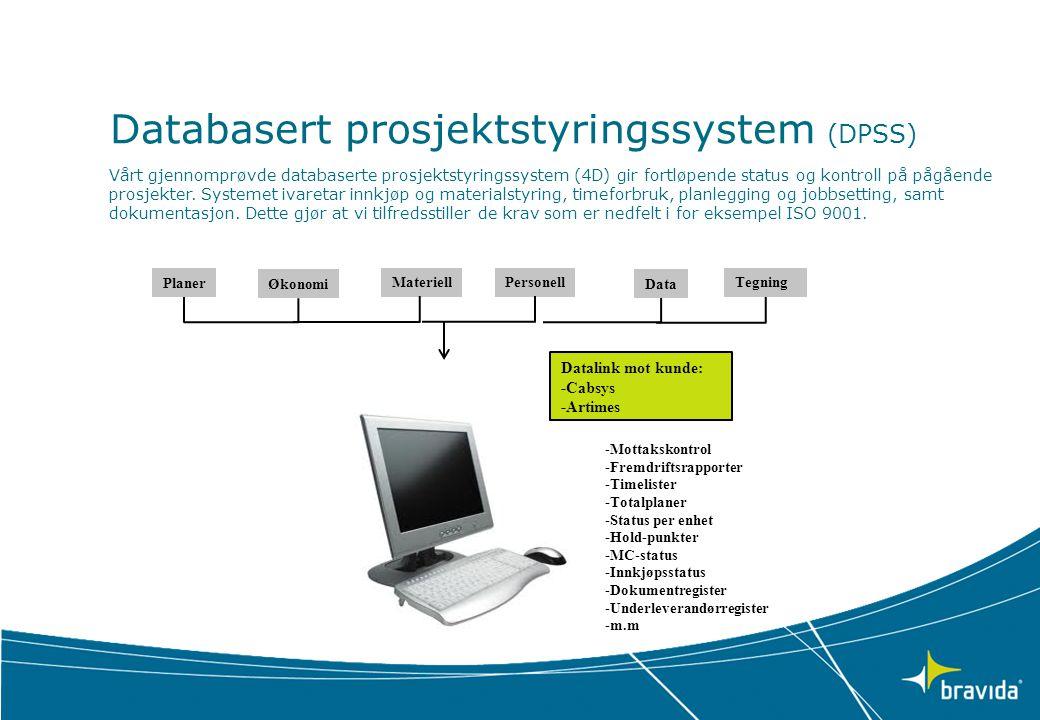 Databasert prosjektstyringssystem (DPSS)