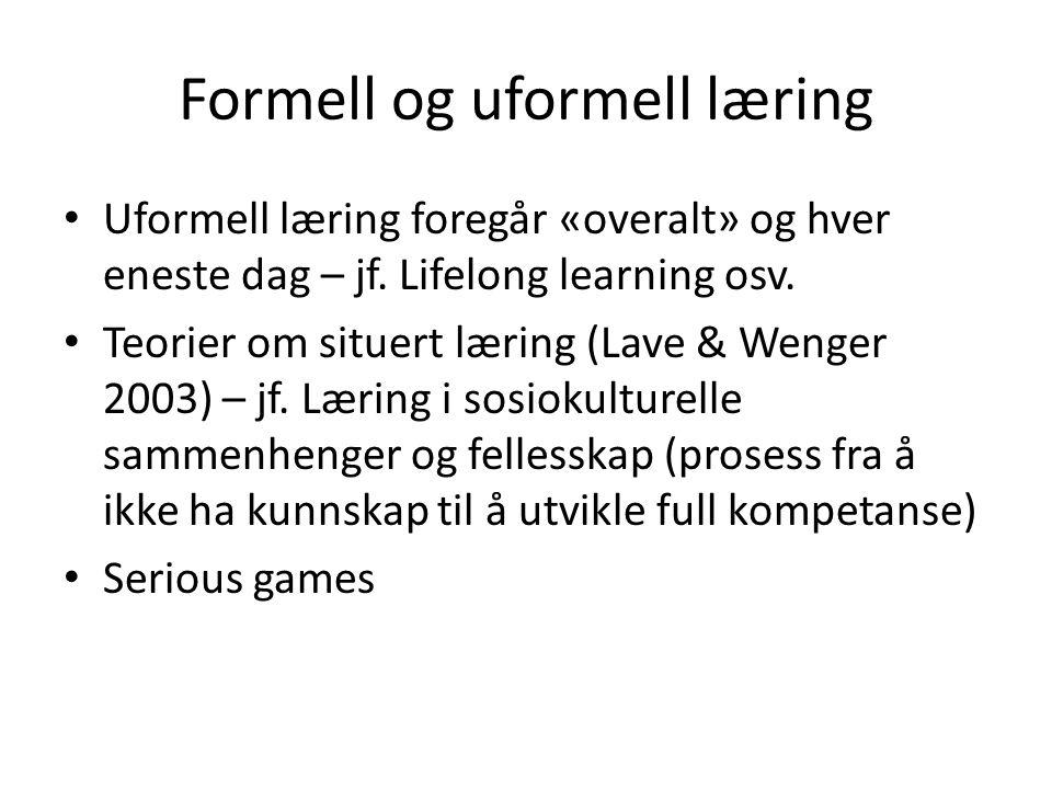 Formell og uformell læring