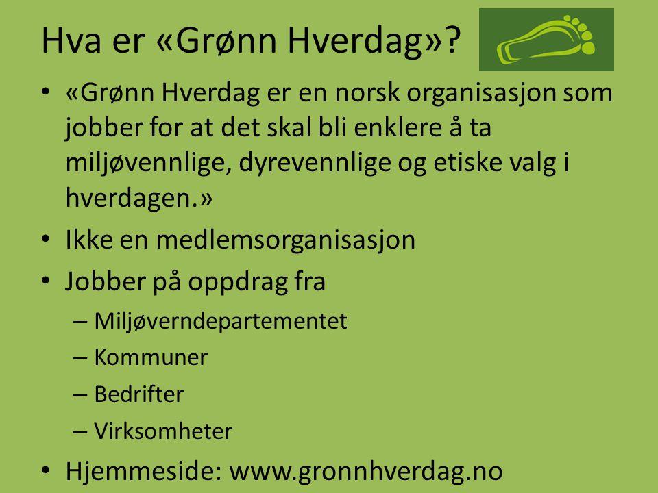 Hva er «Grønn Hverdag»