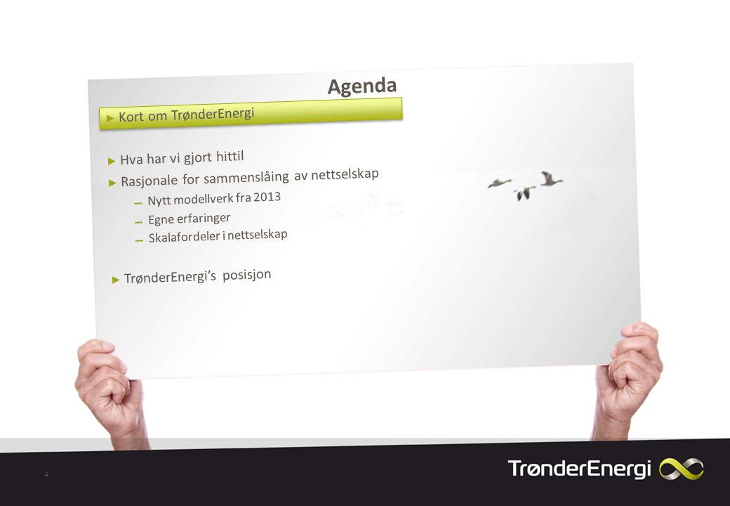 Agenda Kort om TrønderEnergi Hva har vi gjort hittil