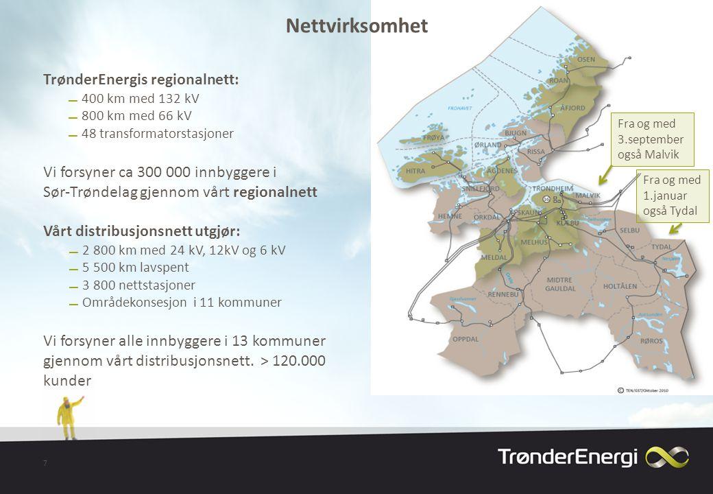 Nettvirksomhet TrønderEnergis regionalnett: