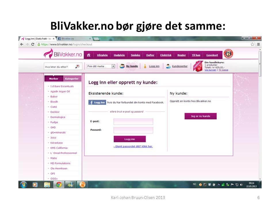 BliVakker.no bør gjøre det samme: