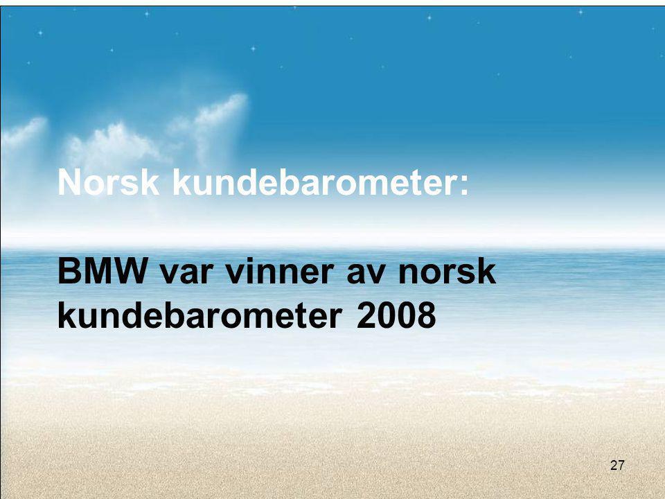 Norsk kundebarometer: