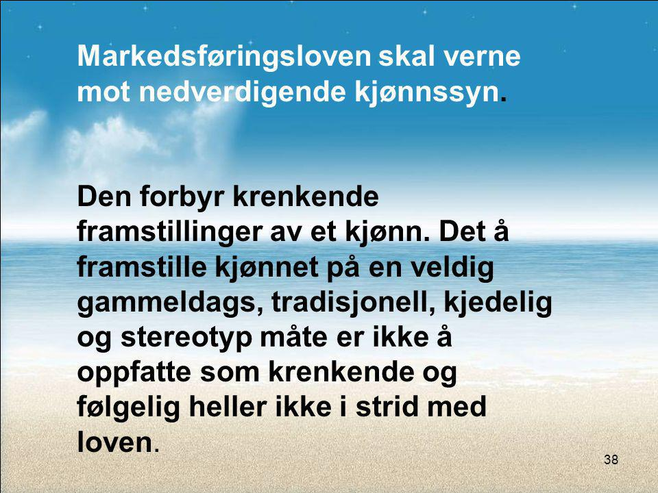Markedsføringsloven skal verne mot nedverdigende kjønnssyn.