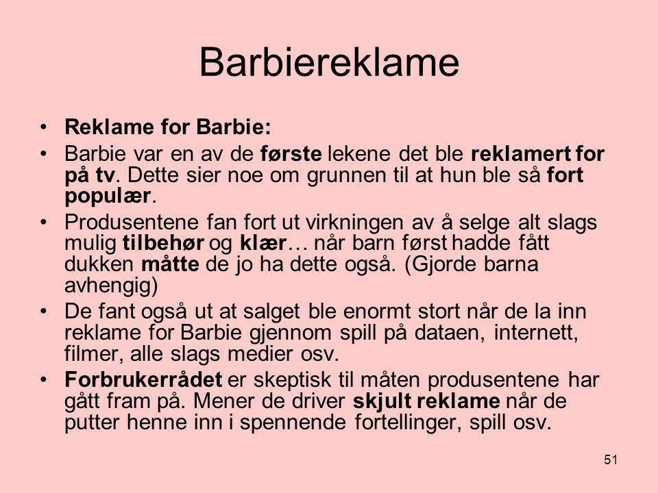 Barbiereklame Reklame for Barbie: