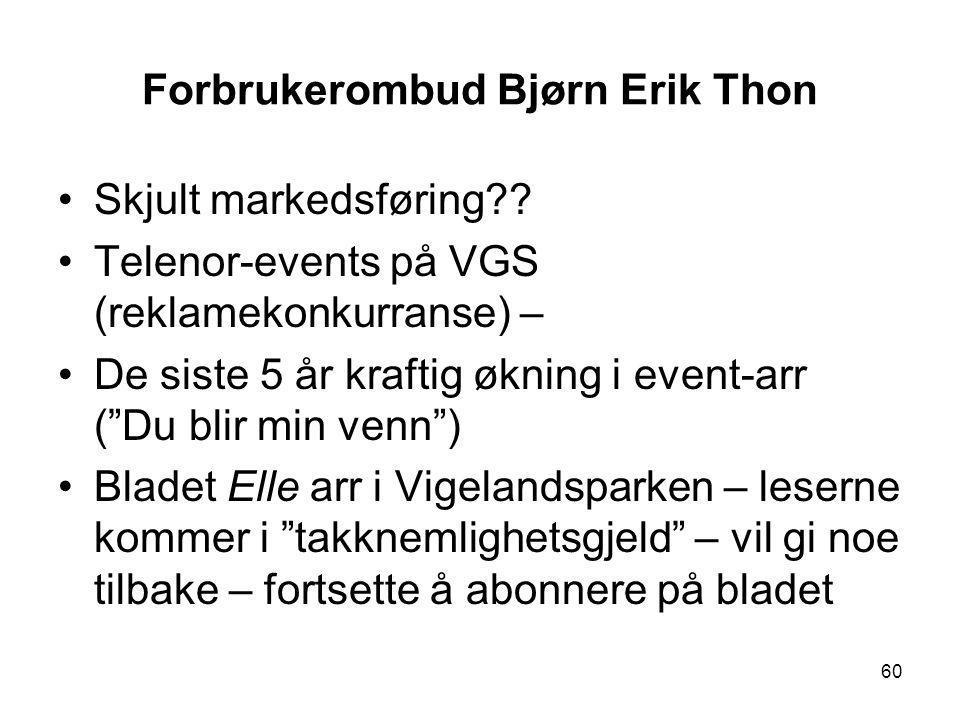 Forbrukerombud Bjørn Erik Thon