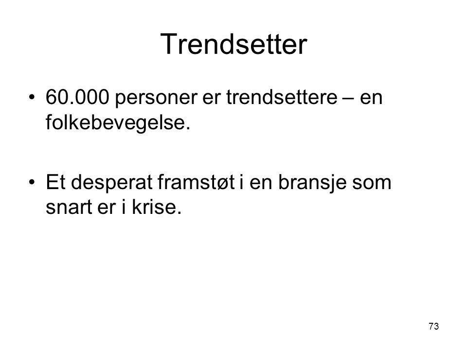 Trendsetter 60.000 personer er trendsettere – en folkebevegelse.