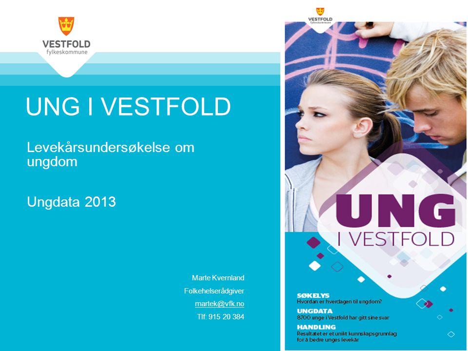 UNG I VESTFOLD Levekårsundersøkelse om ungdom Ungdata 2013