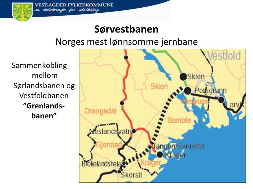 Sørvestbanen Norges mest lønnsomme jernbane
