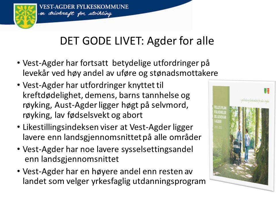 DET GODE LIVET: Agder for alle