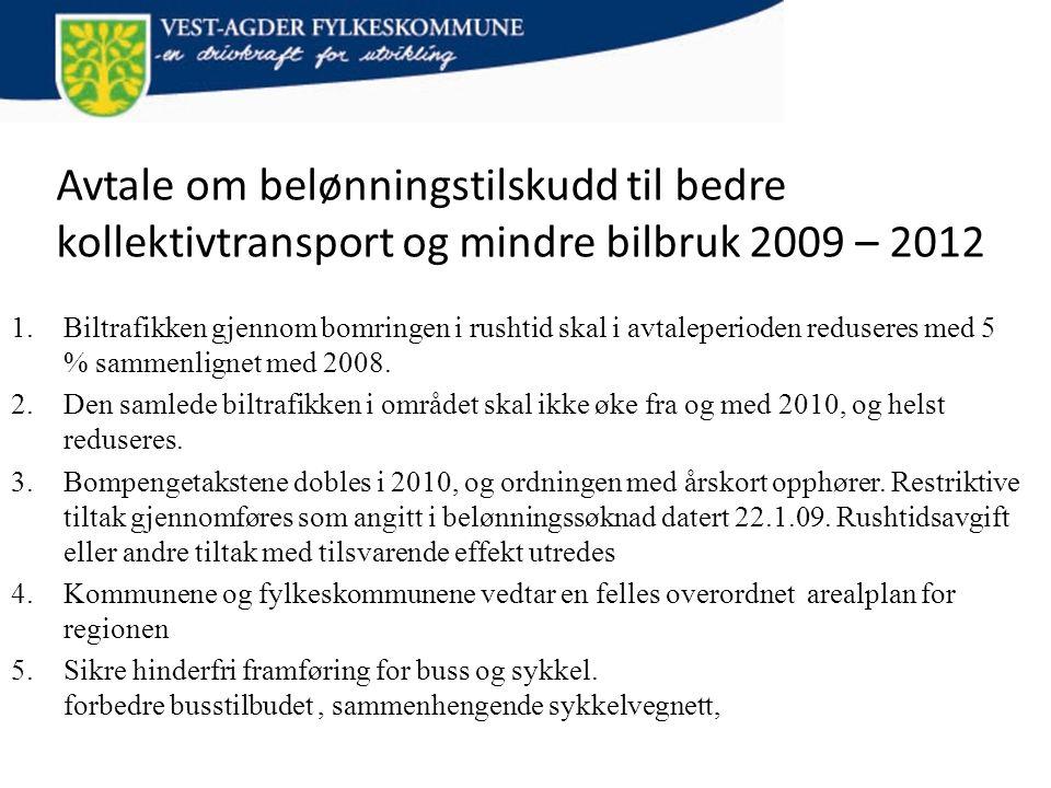 Avtale om belønningstilskudd til bedre kollektivtransport og mindre bilbruk 2009 – 2012