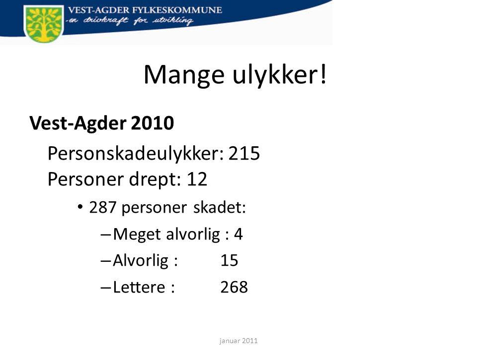 Mange ulykker! Vest-Agder 2010